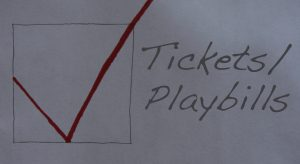 This is the Ticket and Playbill Helpful Check List section.