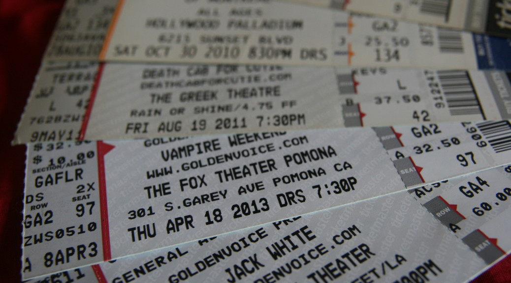 This is the Ticket and Playbill Tips and Tricks section.